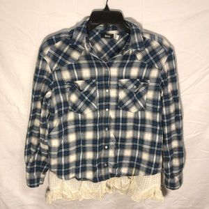 BDG Urban Outfitters Lace Bottom Flannel